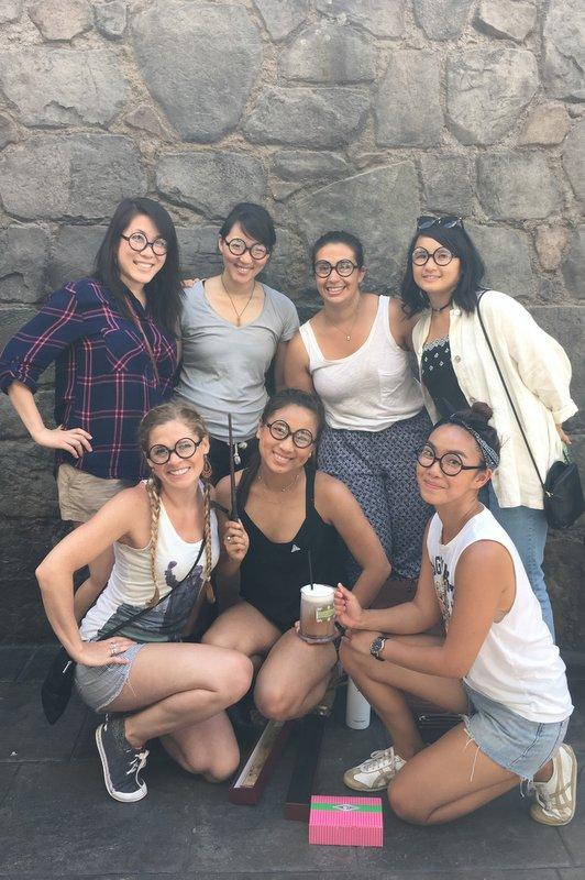 group shot at HP World