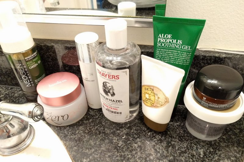 my Korean skincare products