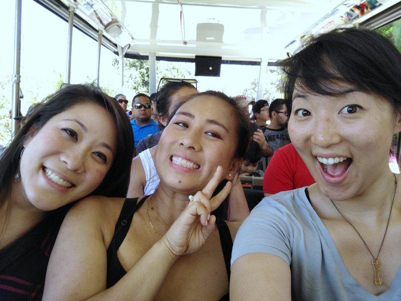 tram ride at Universal Studios
