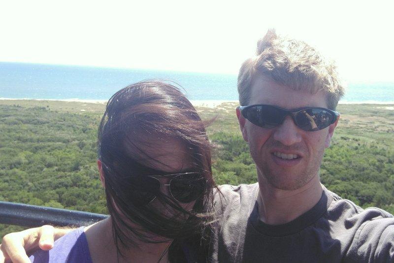 Failed selfie, Hatteras lighthouse