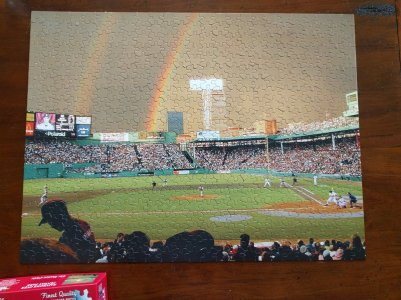 Completed Red Sox puzzle