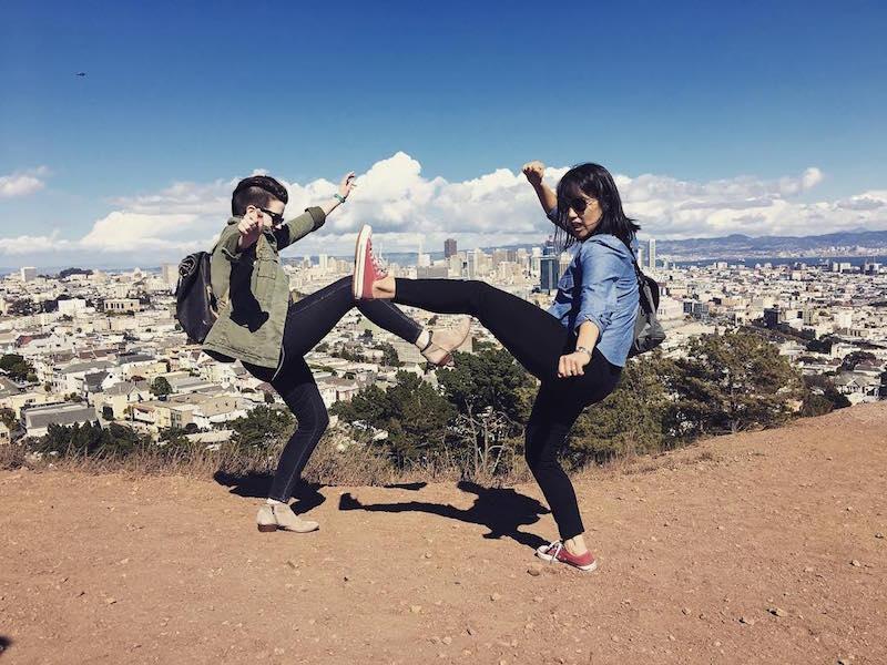 high kick in Corona Heights