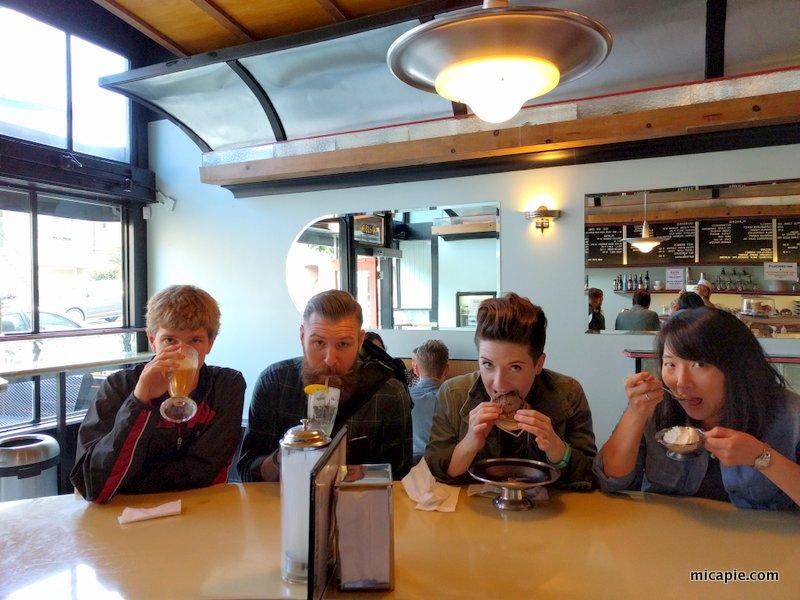 group photo at Ice Cream Bar