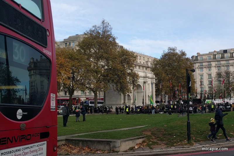 demonstration at Marble Arch