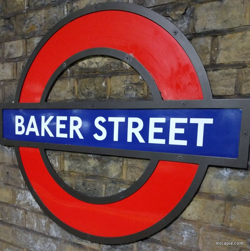 Baker Street subway sign